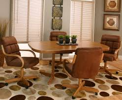 kitchen table and chairs with casters dining room table caster chairs coryc me