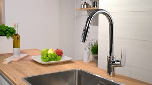 interior wonderful hansgrohe kitchen faucets with adorable summer lovely steel arc hansgrohe kitchen faucets talis c with laminate kitchen sink and stainless steel sink