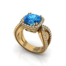 aquamarine engagement rings love u0027s ribbon 3 00 ct tw 14k aquamarine engagement ring ng jewelry