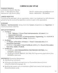 Career Objective In Resume For Mechanical Engineer Diploma Mechanical Engineering Resume Samples Gallery Creawizard Com