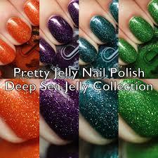 the polished hippy pretty jelly nail polish deep sea jelly