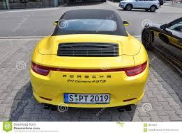 porsche kolkata back of yellow porsche 911 carrera 4 gts editorial photo image