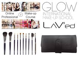 lav u0027ed 10 brush set and online make up course in english glow