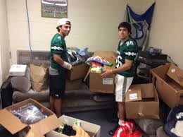 montville football collects costumes for family promise news