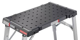 Woodworking Bench Top Surface by Craftsman U0027s Brilliant Pegboard Workbench Can Hold Any Project In Place