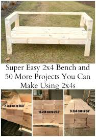 Outdoor Wood Sectional Furniture Plans by Easiest 2x4 Bench Plans Ever Outdoor Sofa Ana White And Board