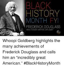 Black History Month Memes - black history month fy frederick douglass abolitionist writer