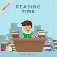 Learning Desk Boy Reading Books On The Desk Background Vector Free Download