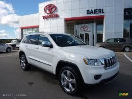 white jeep cherokee black rims 2012 stone white jeep grand cherokee overland 4x4 71010482
