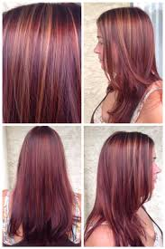 brunette hairstyle with lots of hilights for over 50 fall inspired color copper highlights with a rich red midtone and
