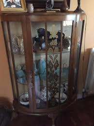 Display Cabinet Vintage Glass Door Display Cabinets Second Hand Antique Collectors And