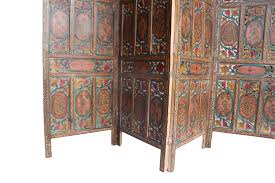 screen room divider four panel hand carved indian screen room divider