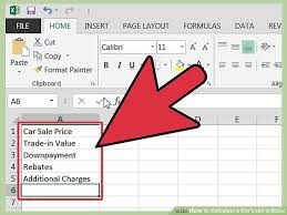 loan formulas how to calculate a car loan in excel 10 steps with pictures