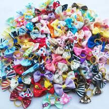 wholesale hair bows 100pcs lot pet dog grooming accessories products made small