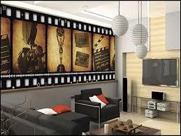 cinema themed living room living room decoration