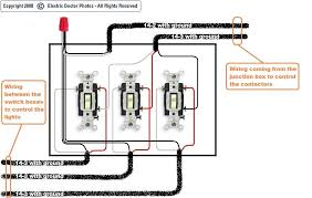 how to wire 3 light switches in one box diagram triple switch