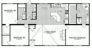 3 bedroom floor plan c 9816 hawks homes manufactured