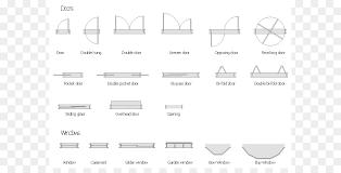 architectural symbols for floor plans window floor plan door architecture symbols cliparts png download