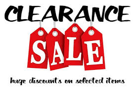 clearance sale act now