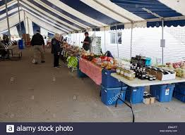 Canopy On Sale by Local Produce On Sale At A Small Farmers Market In Swift Current