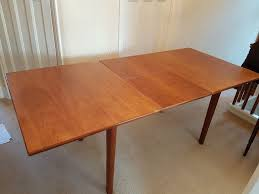 extendable teak dining table beautiful extendable teak dining table and four chairs in barnet