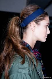 headband ponytail 20 ponytails you should try right now mid height pony with a