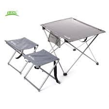 retractable table brs oxford fabric portable folding table and stools chair