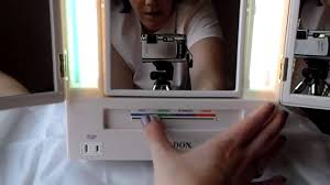 lighted makeup mirror reviews makeup mirror review youtube