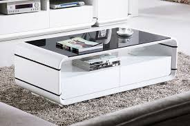 white end table with storage contemporary high gloss white coffee table with drawers small home