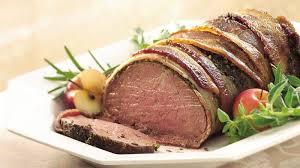 salt crusted beef tenderloin bacon and herb crusted beef tenderloin recipe bettycrocker com