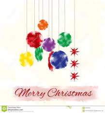christmas cards in watercolor christmas card with stylized christmas tree decoration watercolor
