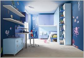 blue painted bedroom ceiling living light walls rendering interior