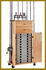 Fishing Rod Storage Cabinet Rod Racks Rod Holders Fishing Rods Fishing Racks Tackle Trolley
