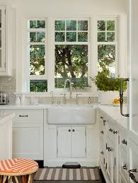 Kitchen Sink Window Height Kitchen Traditional With Striped Rug - Kitchen sink rug