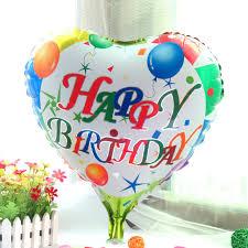 birthday helium balloons aliexpress buy 18 inches happy birthday heart foil balloons