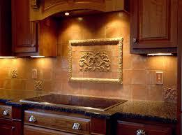 Ceramic Tile For Backsplash by Hand Pressed Floral Tiles Installed In Kitchen Backsplash