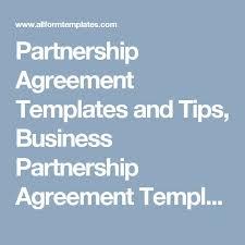18 best partnership agreement templates images on pinterest