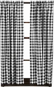Black Check Curtains Buffalo Black Check Curtain Panels 63in Allysons Place