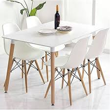 retro kitchen table and chairs set eiffel retro design wood style table and chair dining set large