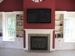 Fireplace Mantels With Bookcases Tv U0026 Media Custom Cabinetry U0026 Millwork Platt Builders