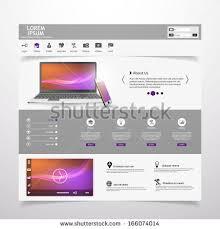 modern clean website template video player stock vector 166074014