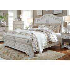 magnolia home antique white sleigh bed free shipping today