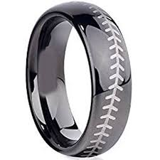 baseball wedding band tungsten celtic engraved engagement rings fashion and