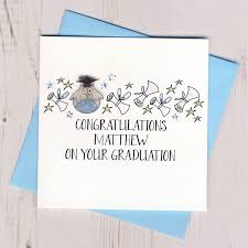 congratulations card personalised graduation congratulations card by eggbert