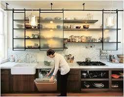 alternative kitchen ideas hanging sliding cabinet doors spaces