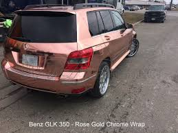 rose gold car mercedes benz rose gold chrome wrap wrap district