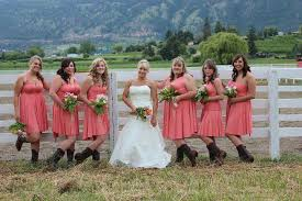 bridesmaid dresses with cowboy boots pictures