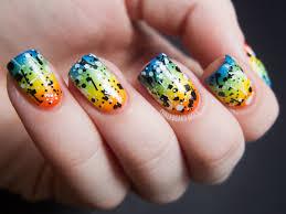 31dc2012 day 09 rainbow nails chalkboard nails nail art blog
