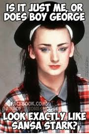 George Meme - it just me or does boy george facebook comma ameof lookexactly like