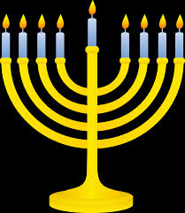 menorah candle holder golden menorah with lit candles free clip